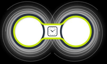 helix border: Two colored circular frames for your text and watches