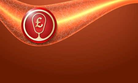 libra esterlina: Resumen de vectores de fondo y el símbolo de la libra esterlina libra de oro