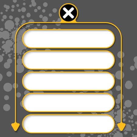 multiplicacion: Cinco marcos para el símbolo de texto y la multiplicación