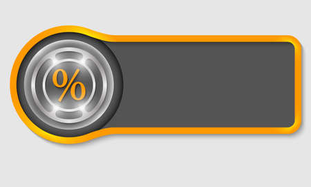 share prices: Abstract button for your white text and percent symbol Illustration