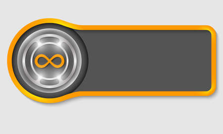 infinity symbol: Abstract button for your white text and infinity symbol