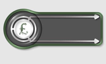 libra esterlina: bot�n oscuro para el texto y la libra esterlina s�mbolo blanco Vectores