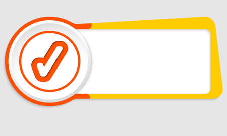check box: Vector abstract button for your text and check box Illustration