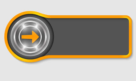 buttons web: Abstract button for your white text and arrow Illustration