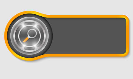 prospect: Abstract button for your white text and magnifier Illustration