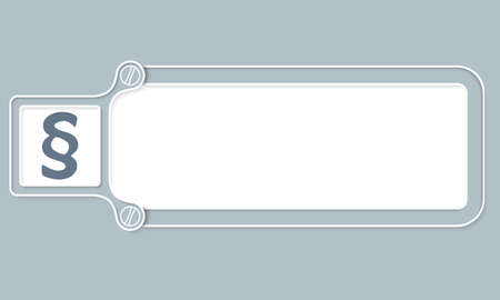 jury box: Gray box with white frame for your text and paragraph
