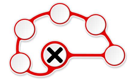 multiplicacion: Circular del vector cuadros de texto para el texto y la multiplicación símbolo Vectores