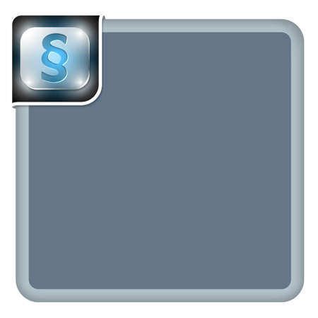 jury box: Vector abstract frame for your text and paragraph symbol