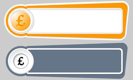 libra esterlina: Extracto de los botones para el símbolo de texto y la libra esterlina