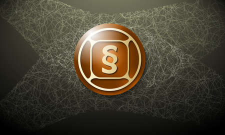 cobweb: Brown background with abstract cobweb and paragraph