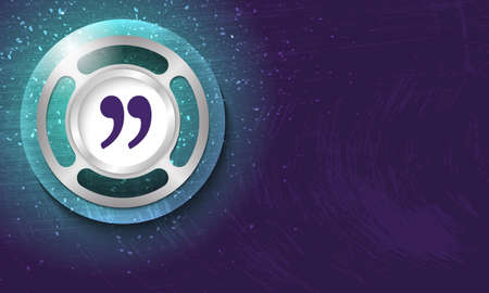 quotation: Vector abstract background with scratches and bubble with quotation mark Illustration