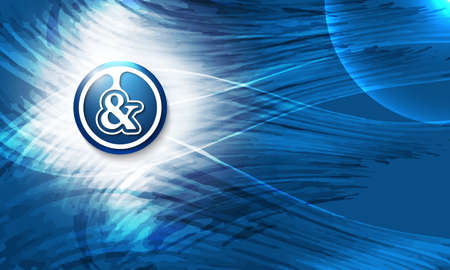 ampersand: Vector abstract blue background and ampersand Illustration
