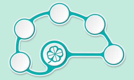 cloverleaf: Vector circular text boxes for your text and cloverleaf