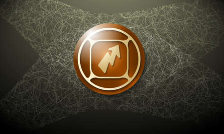 cobweb: Brown background with abstract cobweb and flash