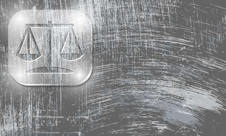 jury box: Vector abstract scratched background and justice icon