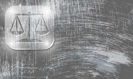justiz: Vector abstract zerkratzt Hintergrund und Gerechtigkeit Symbol