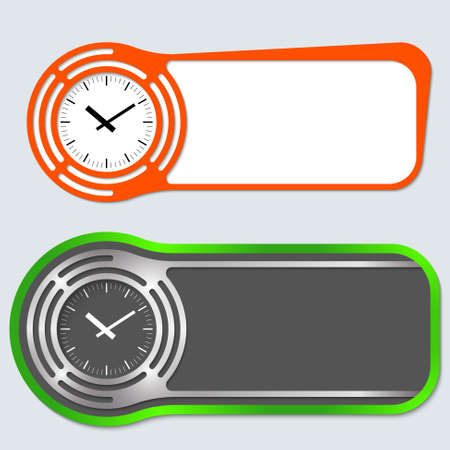 fill in: Set of two abstract buttons for your text and watches