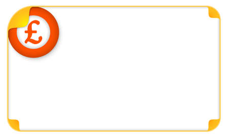 libra esterlina: Marco del color para el símbolo de texto y la libra esterlina
