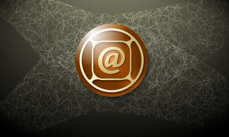 cobweb: Dark background with abstract cobweb and email