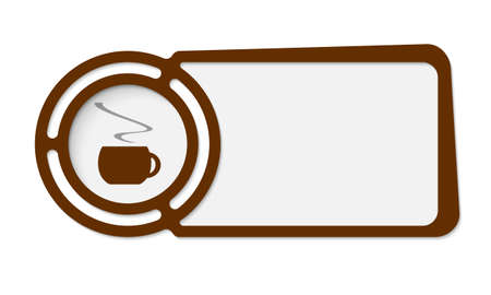 fill in: Abstract frame for your text and cup of coffee