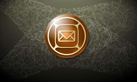 cobweb: Dark background with abstract cobweb and envelope