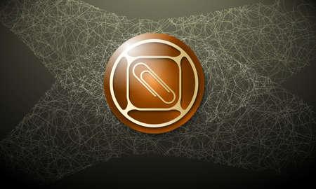 cobweb: Dark background with abstract cobweb and paper clip