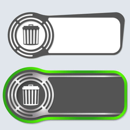 jury box: Set of two abstract buttons for your text and trashcan