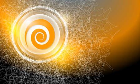 cobweb: Vector abstract background with cobweb and spiral symbol