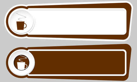 intermission: Abstract buttons for your text and cup of coffee Illustration