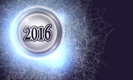 cobweb: Vector abstract background with cobweb and new year symbol