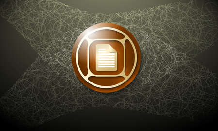 cobweb: Dark background with abstract cobweb and document icon