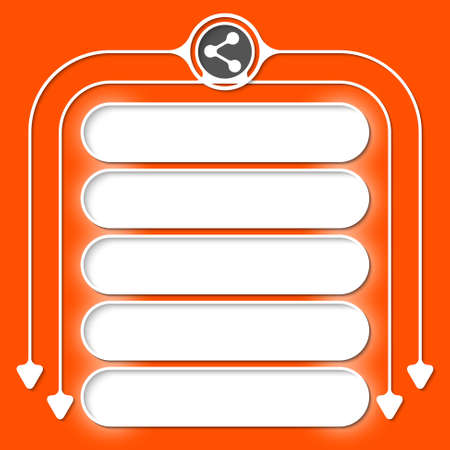 filling folder: Five frames for your text and share icon