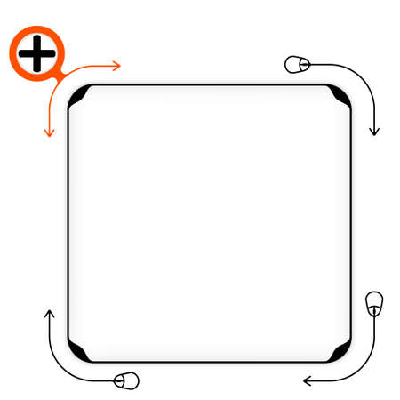plus symbol: Vector black box to fill your text and plus symbol