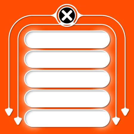 multiplicacion: Cinco marcos para el icono de texto y la multiplicación
