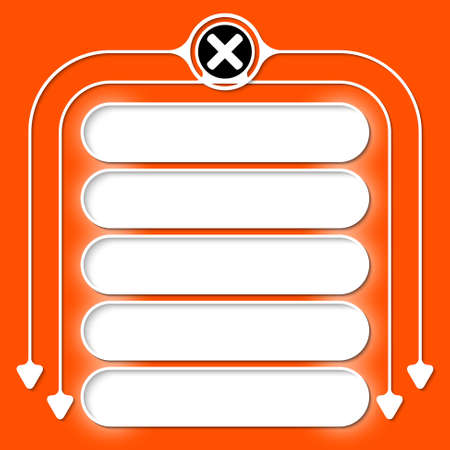 multiplication: Five frames for your text and multiplication icon