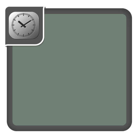 cover background time: Vector abstract frame for your text and watches Illustration