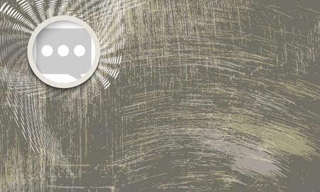 Vektor abstrakten zerkratzt Hintergrund und Sprechblase