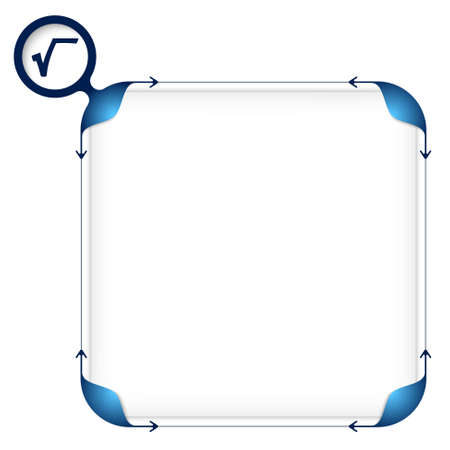 fill fill in: Text box to fill your text and square root Illustration