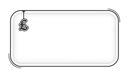 pound sterling: Vector simple caja para llenar el símbolo de texto y la libra esterlina Vectores