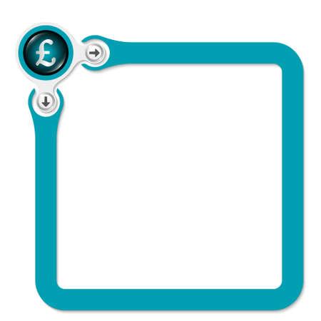 pound sterling: Marco verde para el texto y la libra esterlina símbolo Vectores