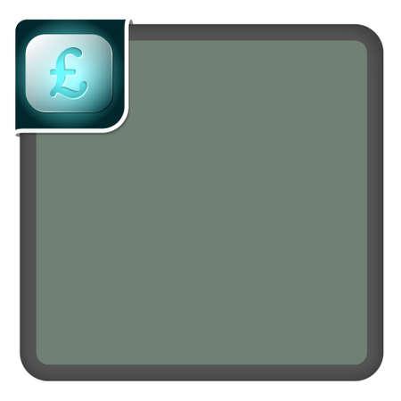 pound sterling: Marco abstracto de vector para el símbolo de texto y la libra esterlina