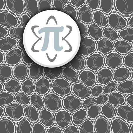 pi: Black and white background with pattern and pi symbol