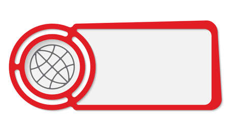 fill fill in: Abstract frame for your text and globe icon