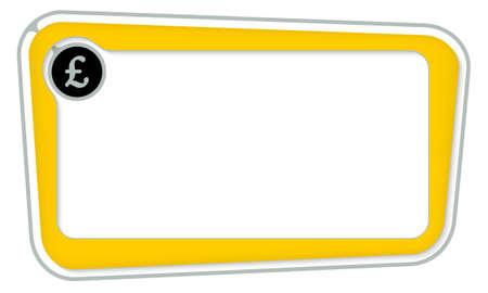 sterlina: scatola di vettore per il testo con il simbolo della sterlina Vettoriali
