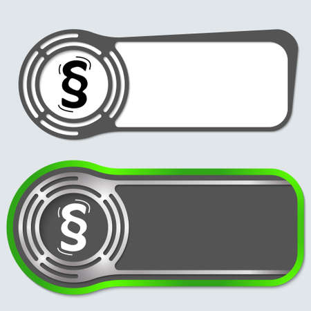 Set of two abstract buttons for your text and paragraph