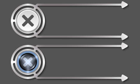 multiplication: Silver abstract boxes for your text and multiplication symbol Illustration
