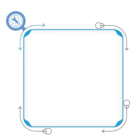 fill: Vector blue box to fill your text and spanner Illustration