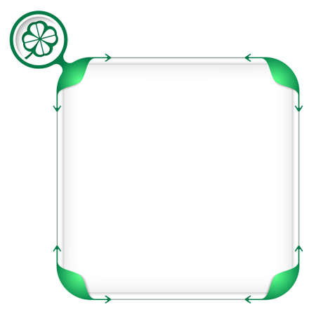 cloverleaf: Text box to fill your text and cloverleaf Illustration