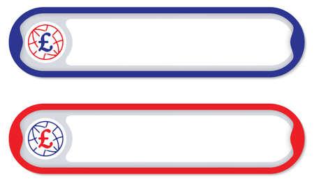 pound sterling: De color para cualquier texto con el símbolo de la libra esterlina
