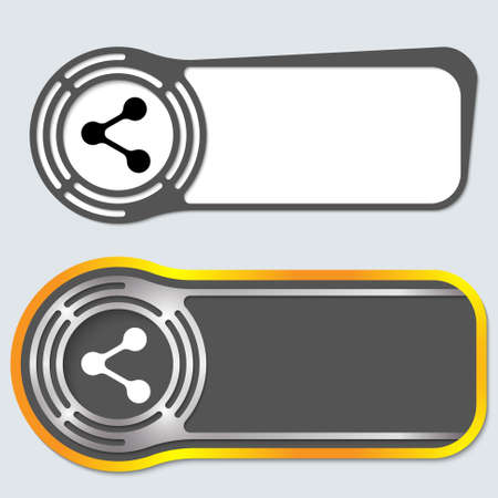 filling folder: Set of two abstract buttons for your text and share icon Illustration